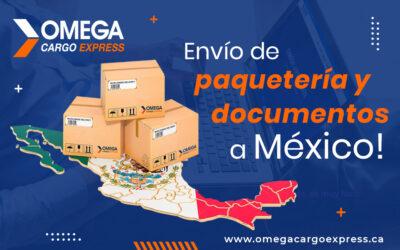 Envío de paquetería y documentos a México desde Canadá